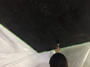 天井 黒塗装2